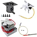 Auger Motor ,Grill Induction Fan Kit ,Fire Burn Pot and Hot Rod Ignitor,Replacement Parts with Screws and Fuse for Traeger and for Pit Boss Wood Pellet Grill,Drive Motor and Combustion Fan Ignitor Kit
