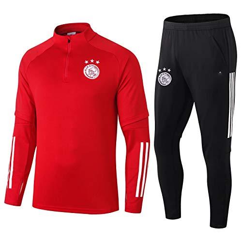 LQRYJDZ Ajax-Fußballuniformen, Trikots, Spieluniformen, atmungsaktive und schnell trocknende langärmlige Fußballuniformen und Hosen-Ausrüstung, Fitness- und Freizeit Sportswear (Multiple-Möglichkeiten