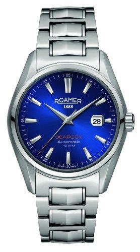 Roamer SM2 - Reloj analógico para Caballero de Acero Inoxidable Resistente al Agua Azul