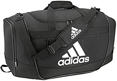adidas Defender III Duffel Bag, Black/White, Large