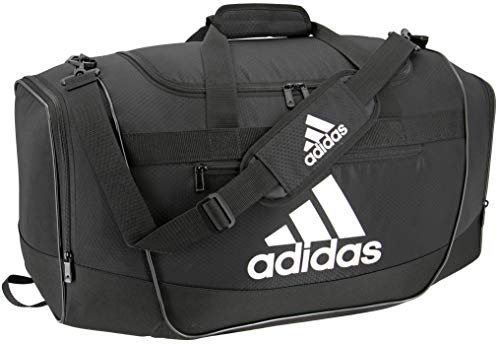 adidas Defender III medium duffel Bag, Black/White, One Size