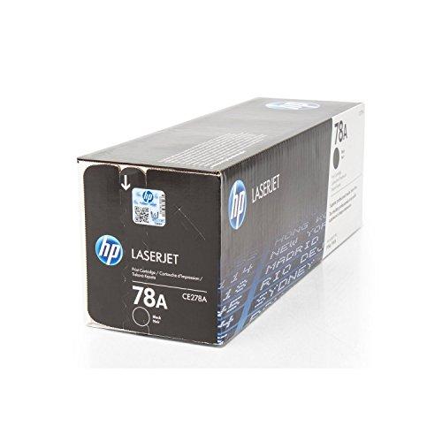 Toner original para HP Laserjet P 1566HP 78A, 78ABK, 78ABLACK, no78a, no78abk, no78ab barniz CE278A–PREMIUM de impresoras cartucho–Negro–2.100páginas