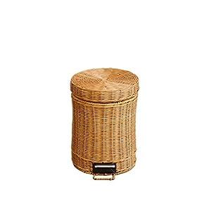 ラタン ゴミ箱3L (ライトブラウン)
