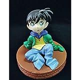 SDFDSSR Anime Doll Detective Conan Postura sentada Kudo Shinichi Q Versión Figura Versión Estatua Muñeca Escultura Juguete Decoración Modelo Muñeca Altura 10cm