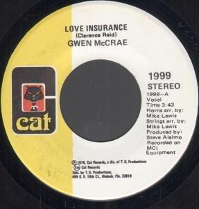 "LOVE INSURANCE 7 INCH (7"" VINYL 45) US CAT 1975"
