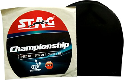 Stag Championship Table Tennis Rubber (Black)
