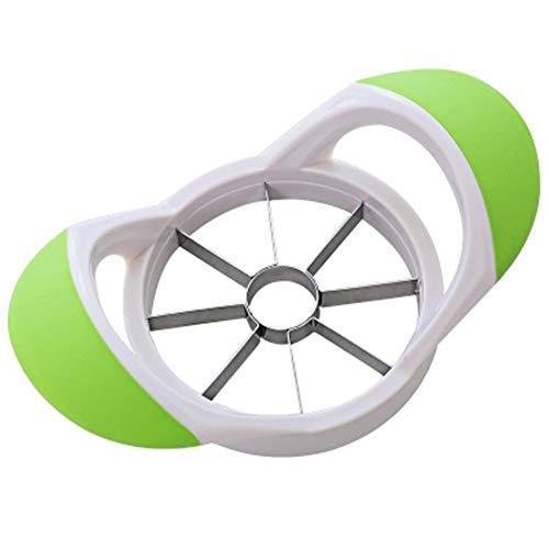-Birnen-Kern-Remover-Frucht-Schneidwerkzeuge Küchenhelfer -Cutter Küche Obst Cutter Apfelschneider Ausstecher Edelstahl Multifunktionale Küchenhelfer (Farbe : Green)