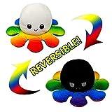 StoreCreative - Pulpos Reversibles 20x20x10 de Doble Cara para niños, Juguetes para niños, muñeco de Peluche de cumpleaños, Flip Pulpo de Peluche, Juguete para Regalo, Púlpito Reversible (15)