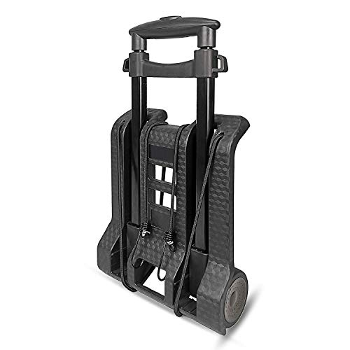 WYNK Luggage Cart with Wheels Folding Hand Truck with Bungee Cord, Compact and Lightweight Utility Aluminum Alloy Cart for Luggage/Personal/Travel/Auto/Moving & Office Use Portable Fold Up Hand Cart