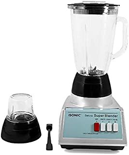 iB 702 iSONIC DELUXE BLUNDER & MILL - IDEAL FOR ICE CRUSH,1400ml Glass Jar -450 Watts