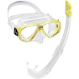 Cressi Perla Mare Premium, Scuba Maschera Snorkel Set, Prodotto in Italia Unisex-Adulto