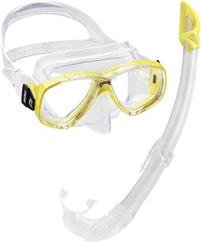 Cressi Perla Mare Premium, Scuba Maschera Snorkel Set, Prodotto in Italia Unisex-Adulto, Giallo