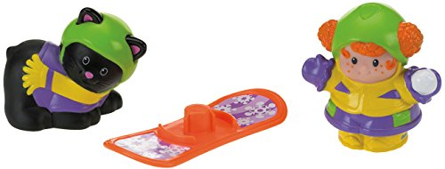 Fisher-Price–Little People Figures Tube Snowboarding board