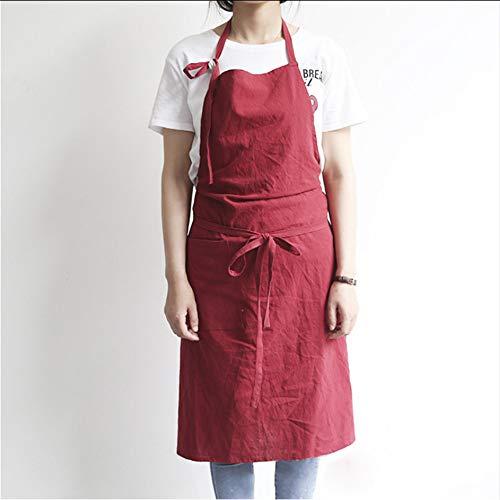 Cczxfcc 1Pc Lange Katoen Schort Casual Craft Koken Huis Shop Schilders Werkkleding B