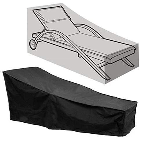 CWYPC Cubierta para Muebles De Jardín, Protección Exterior Muebles De Jardín Fundas Impermeables para Muebles Cubierta de Polvo para Sillón Reclinable, Anti-Viento, 208 * 76 * 41 / 79cmBlack