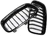 Accesorios para parrilla de coche 2 piezas de parrilla delantera impecable, para BMW 3 series F30 F31 F35 2012 ~ 2017 Auto - repuestos - reemplazo de parrilla con accesorios deportivos ABS cubierta