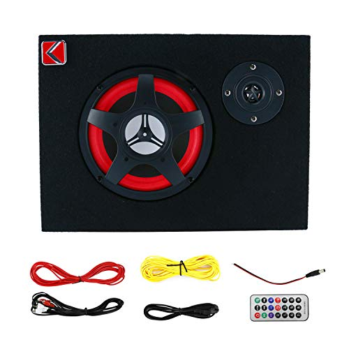 6   Active Car Under Seat Sub Woofer Bass Speaker Powered Amplifier 350W