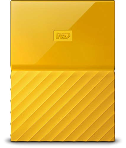 WD My Passport - Disco Duro Portátil de 2 TB y Software de Copia de Seguridad Automática, Amarillo