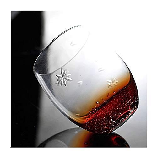 GXJ Nicho de Whisky de Cristal Hecho a Mano de Degradado Azul Hielo Agrietado espíritus Vidrio sin Plomo de Vidrio de 300 ml de Wineware (Color : M-2)