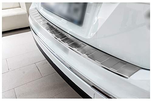 teileplus24 AL100 Ladekantenschutz aus technischem Vollaluminium mit 3D Prägungen und Abkantung, fahrzeugspezifische Passform, einfache Montage, Farbe:Silber