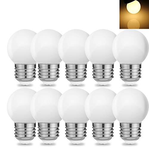 10 Stück E27 Schraube Sockel 1 W LED Golf Ball Glühbirne Globe Lampe für Urlaub Party Dekoration 220 V – Warm Weiß