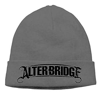 VAbBUQBWUQ Alter Bridge Logo Cable Knit Skull Caps Thick Soft & Warm Winter Beanie Hats for Women & Men Cotton Hat Unisex Cap Deep Heather