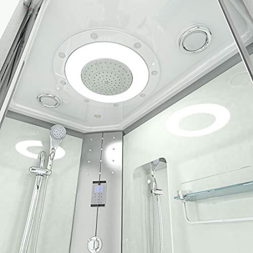 AcquaVapore DTP8060-7000R Dusche Duschtempel Komplett Duschkabine 80×120 - 9