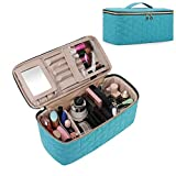 BAGSMART Makeup Bag Cosmetic Bag Large Toiletry Bag Travel Bag Case Organizer for Women, Teal