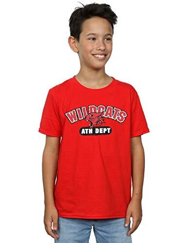Disney Niños High School Musical The Musical Wildcats Athletic Camiseta Rojo 7-8 Years