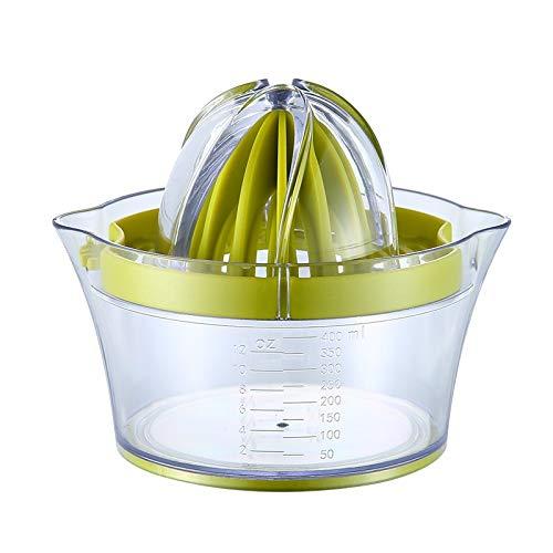 HXSJ Manuelle Entsafter Lemon Squeezers 14,5 X 10,5 cm, Multifunktions Orange Citrus Lime Entsafter, Handfruchtpresse Mit Maßbehältnis 400ml