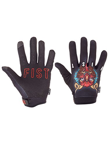 Fist Handwear Gants Mx Strapped Demon Cleaner (Xxs, Noir)