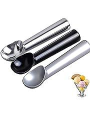 ROBAKO IJsschep portioneerder voor ijsballen van aluminium, professionele anti-aanbak ijs lepelspatel, voor ballen met een diameter van 5 cm, 3 stuks