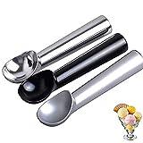 BONHHC Cuchara para Helado Cucharas de Helado/Aluminio Ice Cream Scoop/Cuchara de Helado Profesional Antiadherente/3 Piezas