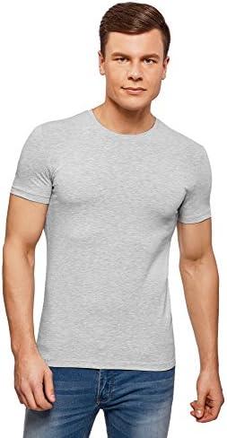 oodji Ultra Hombre Camiseta Básica Entallada