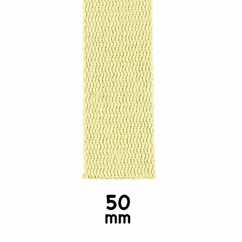 Play Juggling - FETTUCCIA 100% PURO KEVLAR PROFESSIONALE PER GIOCOLERIA E SPETTACOLI DI FUOCO - 6 misure - PREZZO AL METRO (Largh. 50mm | Spess. 3mm)