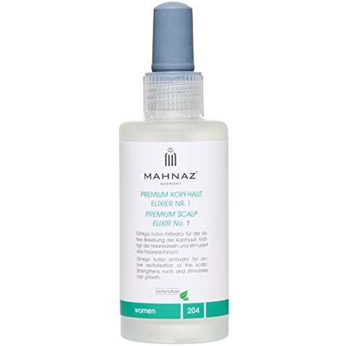 MAHNAZ for Woman, Premium Kopfhaut Elixier Nr.1, Haarausfall* vorbeugen, Haarwachstum anregen, Veganes Haarserum, 2-Monats-Flasche, 100 ml
