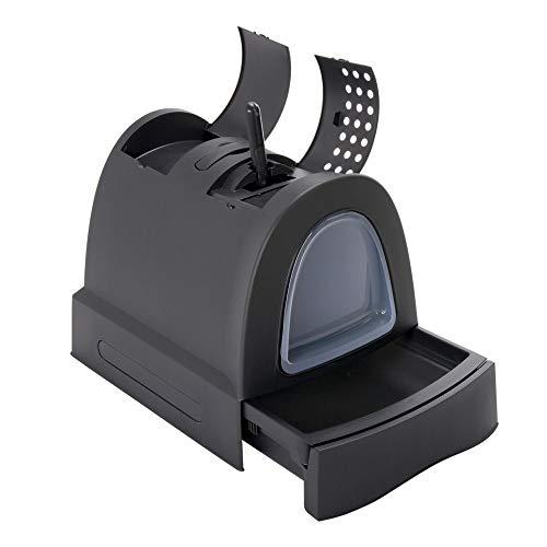 Imac - Toilette lettiera chiusa ZUMA. Colore nero. 40x56x42,5 cm