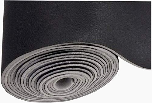 Black Auto Headliner 3/16' Foam Backing Fabric Material 120' X 60'