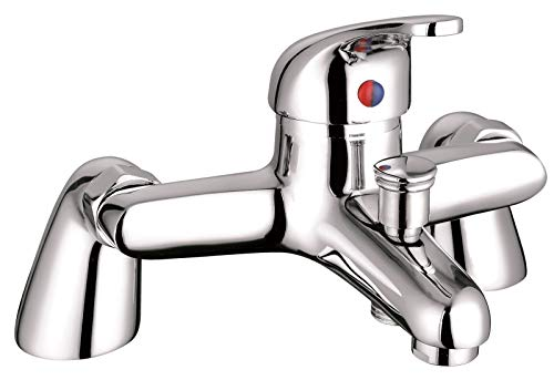 Acabado cromado ValueBaths Perth Bimando para bañera para cuarto de baño columna de ducha con grifo Micro USB incluido soporte de pared