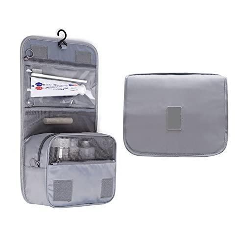 XYLUCKY Borsa da Toilette da Appendere Borsa da Viaggio da Viaggio per Donna Organizzatore Cosmetico Dimensioni da Viaggio Accessori da Toeletta Organizzatori per La Cura della Pelle per Uomo,Grigio