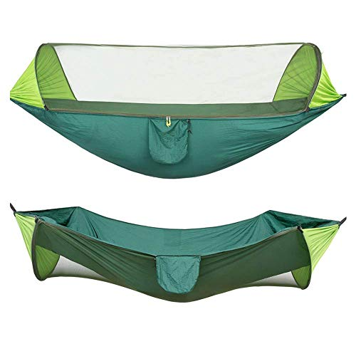EverNight Camping Double Hammock,Ultralight Portable Windproof, Swing Sleeping Hammock Bed with Net And 2 X Hanging Straps for Outdoor, Hiking, Backpacking, Travel,1