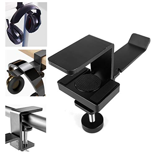 Sixcup Aluminiumlegierung Desktop Clip Kopfhörerhalter Universal Kopfhörerhalter aus Metall mit Kopfhalterung Kopfhörer Rack Headset Halterung für Kopfhörer, Overhead Kopfhörer, Gaming Kopfhörer (A)