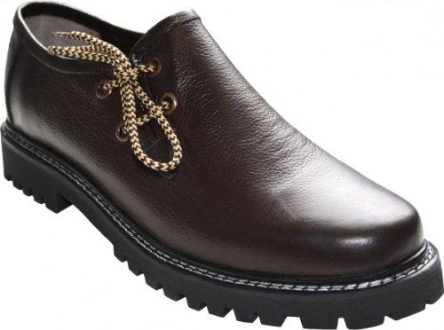 German Wear, Haferlschuhe Trachtenschuhe Original-Handmachart Glattleder, Schuhgröße:43, Farbe:Dunkelbraun