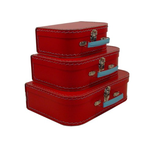 Cargo Vintage Travelers Mini Suitcases, Set of 3, Red