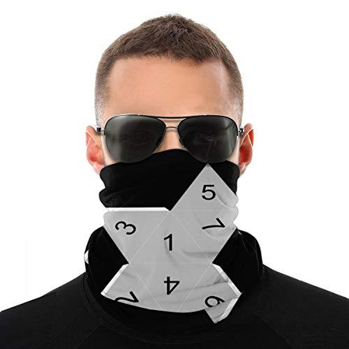 Papierwürfel Unisex Gesicht Schal Abdeckung Outdoor Sport Running Neck Sturmhaube