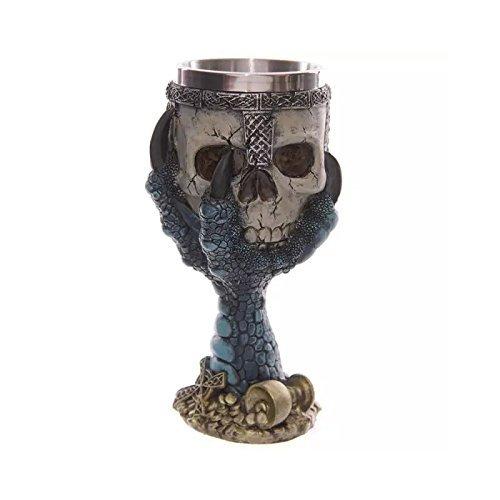 Skull Mug Beer Tankard 3D Skeleton Goblet Creative Resin Coffee Mug Cup Stainless Steel Drinking Cup for Drinks Coffee Beer Juice Skeleton Drinkware Mug Beer Cup Mug