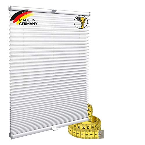 Gardinen21 Konfiguriern Sie Ihr eigenes Plissee mit Bohren Maßgefertigt für Türen & Fenster | Sonnenschutz und Blickdichte Rollos