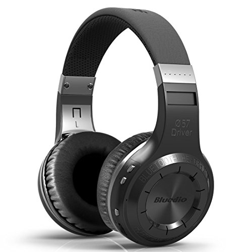 Bluedio HT Turbine - Auriculares inalámbricos Bluetooth con micrófono para teléfonos móviles, smartphones, iPhone, ordenador portátil y dispositivos Bluetooth (HT, negro)