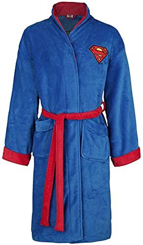DC Comics Superman Mens Fleece Bath Robe, Blue,...