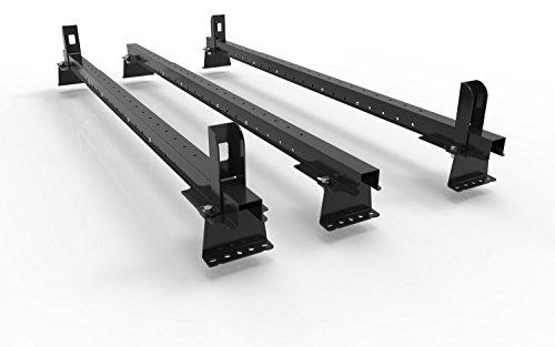 Mk2 FIAT SCUDO VAN (2007 a 2016) - 3 barras de techo para furgoneta - con extremos y todos los accesorios - AutoRack EasyBars